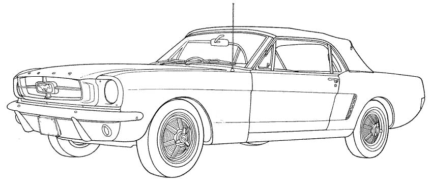 Coloring Pages Mustang Car : Mustang coloring pages ford