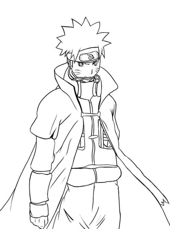 Naruto Coloring Page Colouring Pages