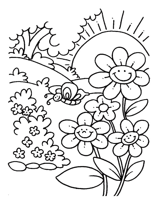 Printable Nature Coloring Pages Coloring Me | Coloring Pages for ... | 792x612