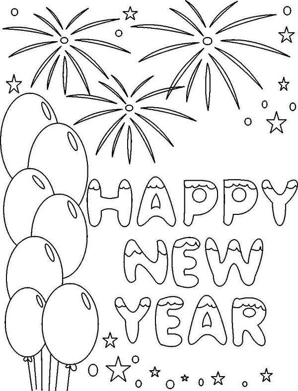 new years coloring sheets