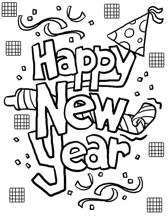 Printable New Years Coloring Pages Coloringme Com