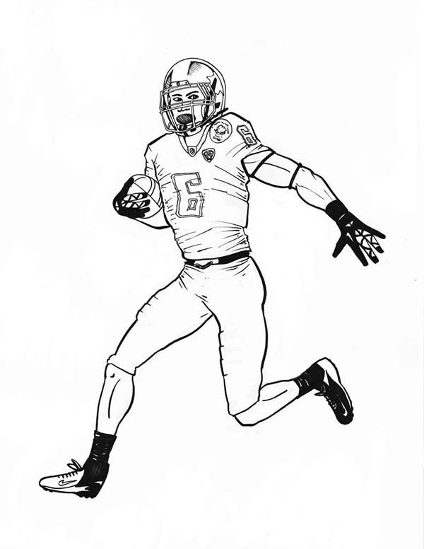 nfl football player coloring pages - photo#2