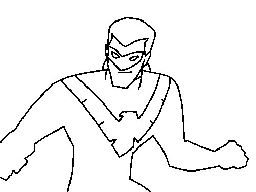 Printable Nightwing Coloring Pages  Coloring Me