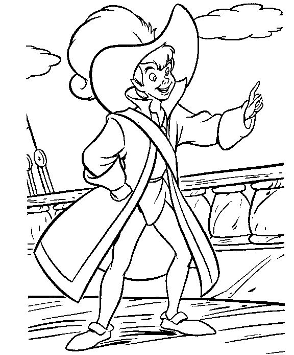 Coloring pages peter pan hats coloring pages - Coloriages peter pan ...