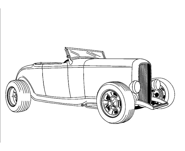 Rat Rod Coloring Pages Ford Model A