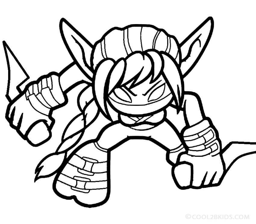 Pictures Of Skylander Giants Coloring Page