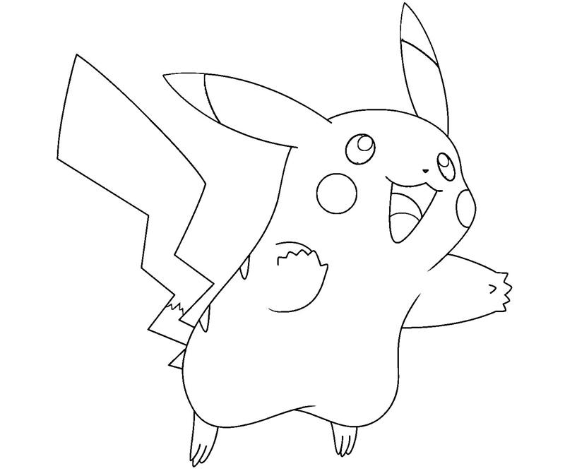 Pikachu free colouring pages for Pikachu coloring page