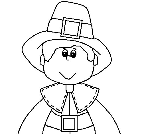 Printable Pilgrims Coloring Pages | Coloring Me