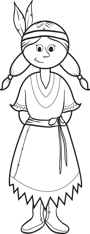 printable pilgrims coloring pages me pilgrim girl coloring page - Girl Indian Coloring Pages
