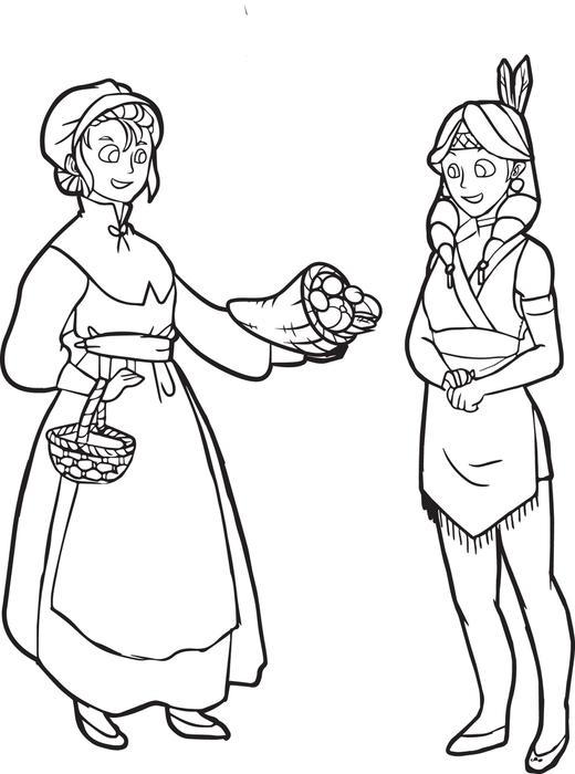 Printable Pilgrims Coloring Pages Coloring Me