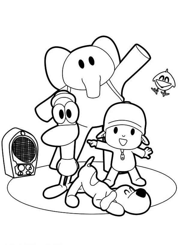 Printable Pocoyo Coloring Pages | ColoringMe.com