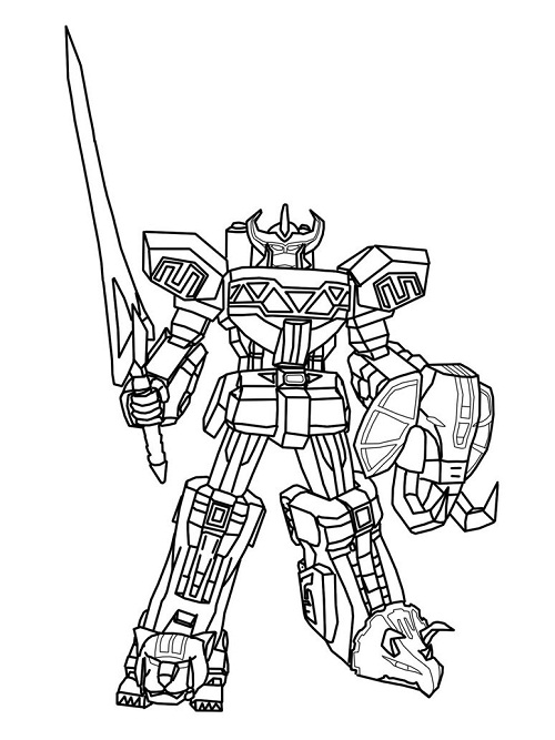 Power rangers super megaforce coloring pages sketch for Power rangers samurai megazord coloring pages