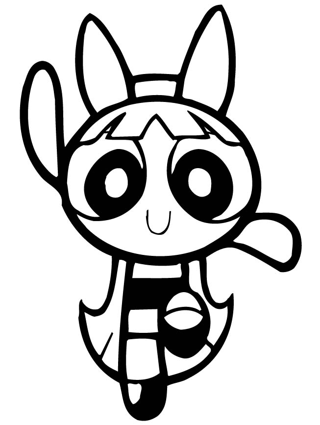 powerpuff girls coloring pages blossom - Powerpuff Girls Coloring Page
