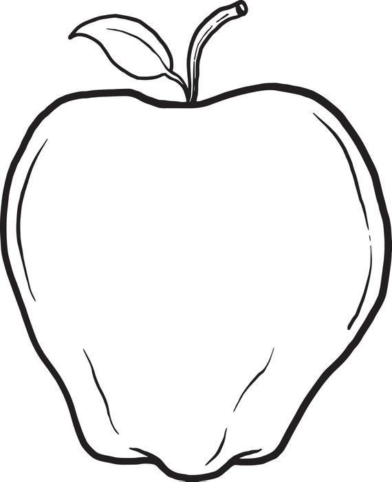 a apple coloring pages - photo #17