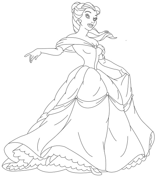 Belle Coloring Pages - GetColoringPages.com | 620x550
