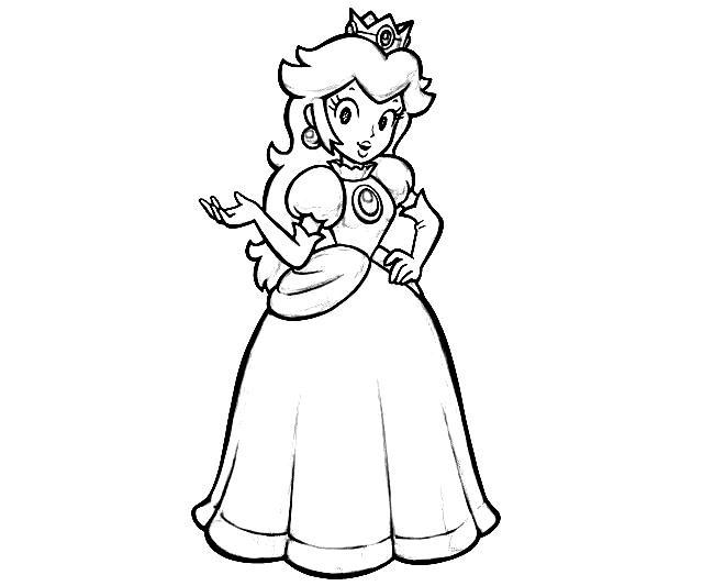 princess toadstool coloring pages - photo#6