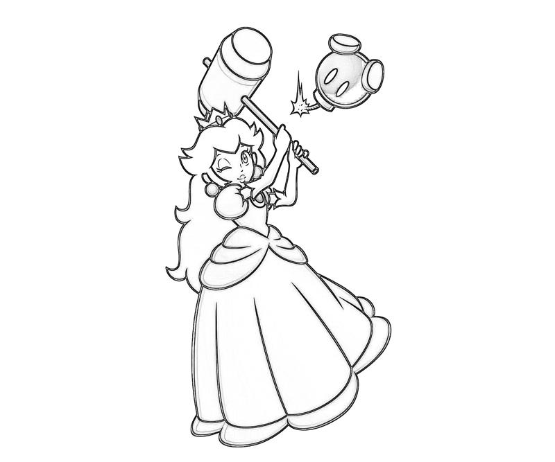 mario princesses coloring pages