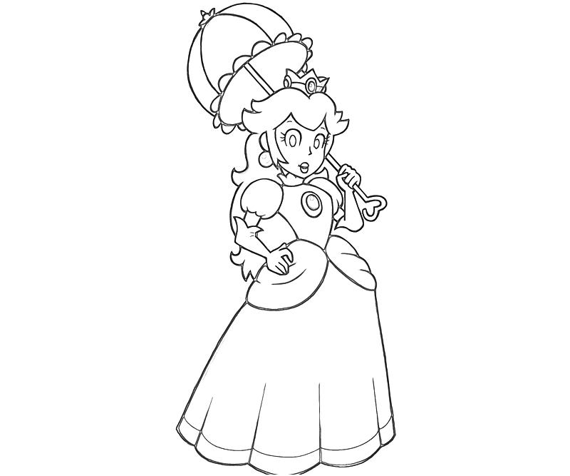 princess peach coloring page 6637 - Baby Princess Peach Coloring Pages