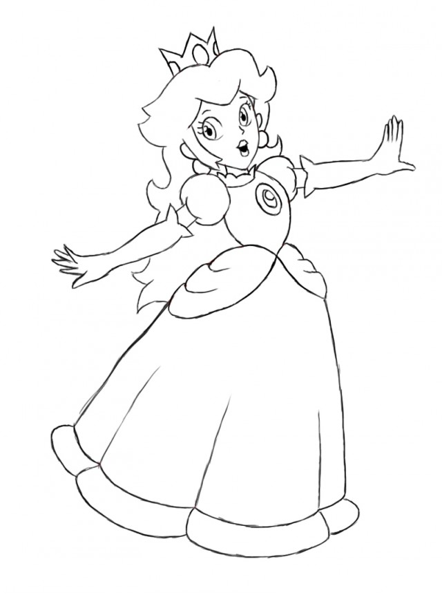 the baby princess mario coloring pages to print learn more - Baby Princess Peach Coloring Pages