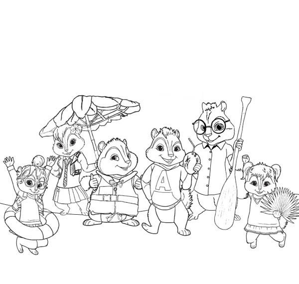 chipmunks coloring pages printable - photo#32