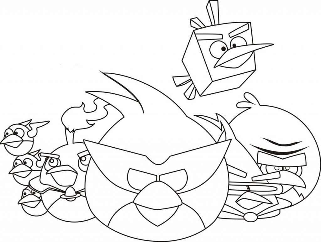 Angry Birds Coloring Sheets Bird Page