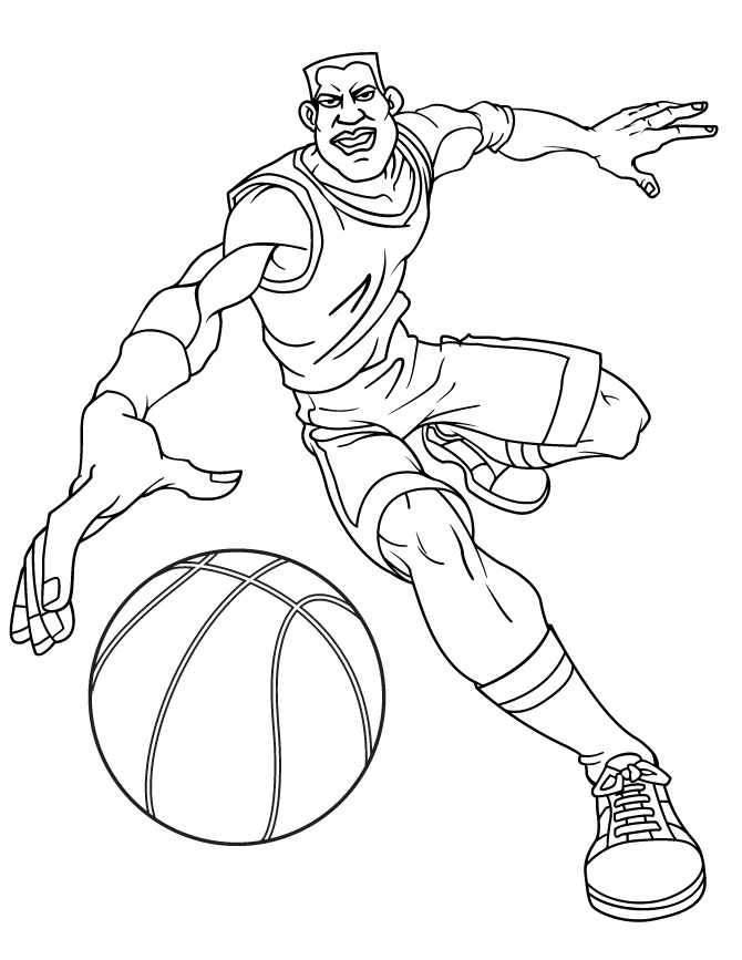 printable basketball coloring pages - Basketball Coloring Pages Print