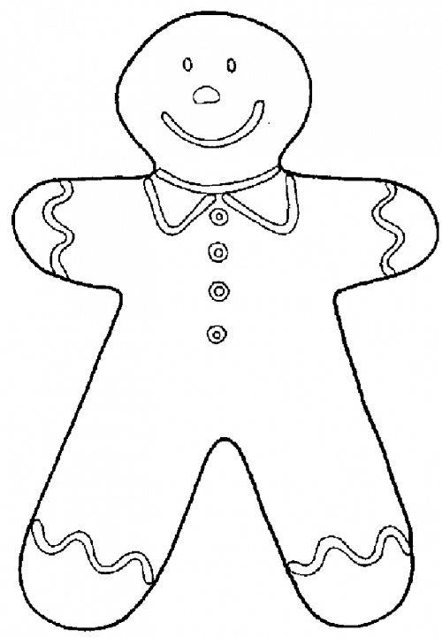 Printable Gingerbread Man Coloring Pages Coloring Me Gingerbread Cookie Coloring Page