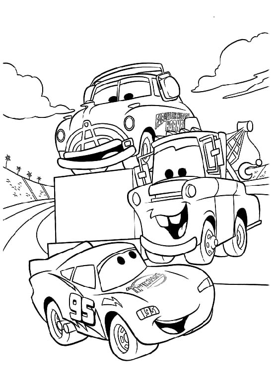 Printable Lightning McQueen Coloring Pages | Coloring Me