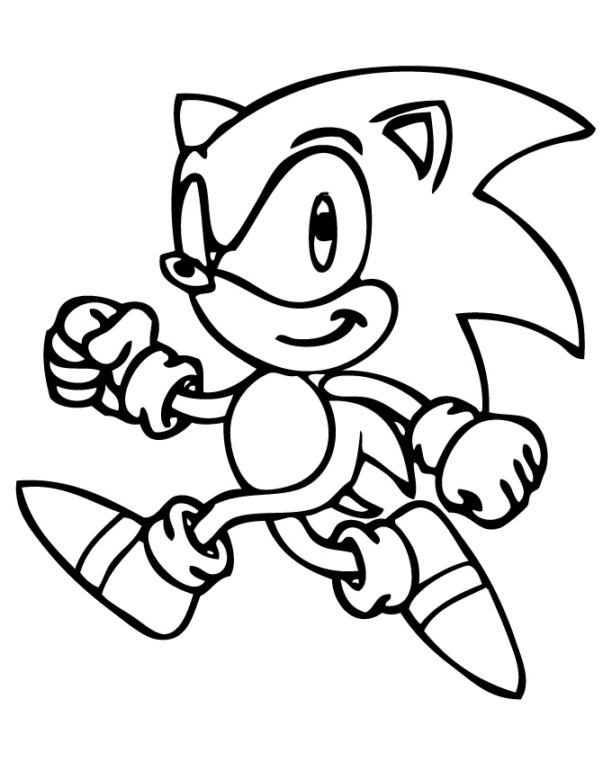 printable sonic the hedgehog coloring pages