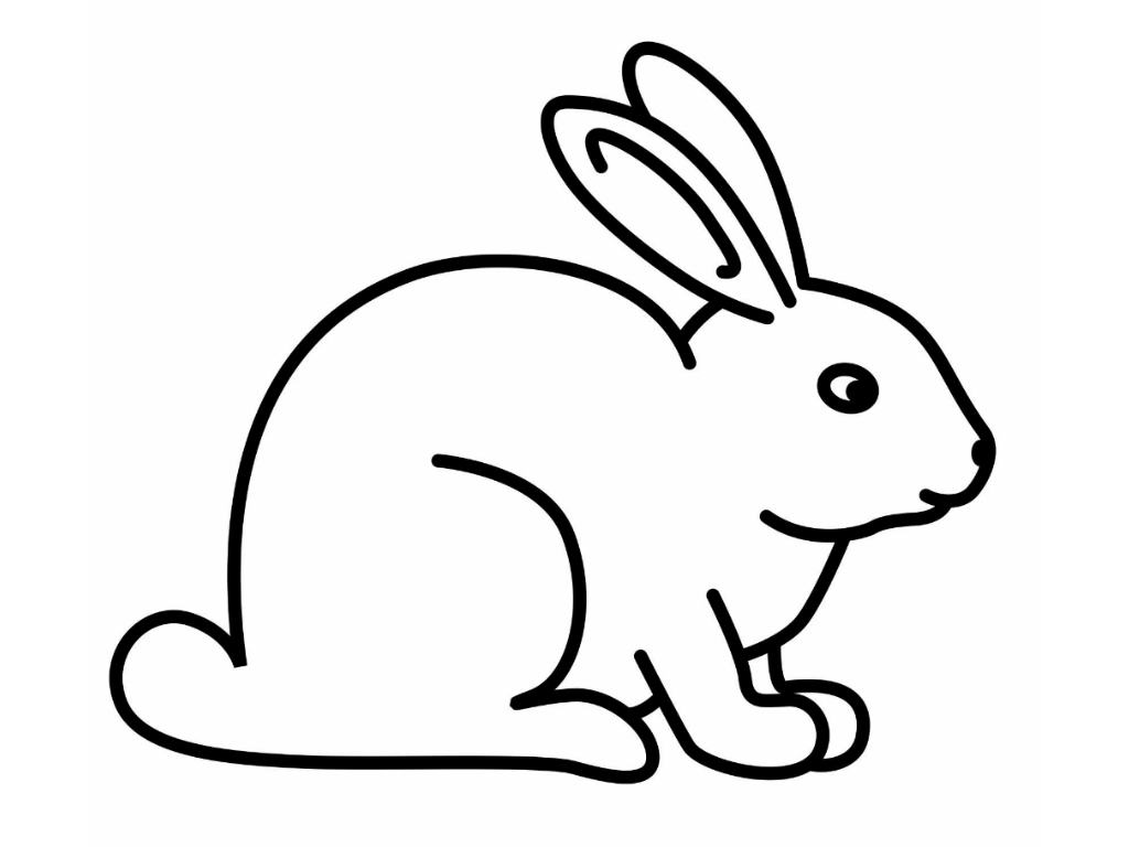 rabbit coloring sheets