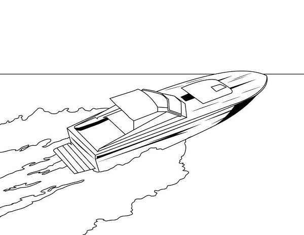 Free Motor Boat Coloring Pages, Download Free Clip Art, Free Clip ... | 464x600