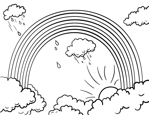 Printable Rainbow Coloring Pages | ColoringMe.com