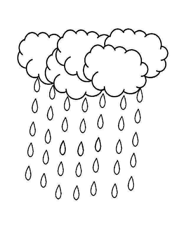 raindrop coloring pages clouds - photo#23