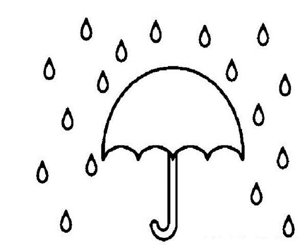 raindrops coloring pages for toddlers - photo#33