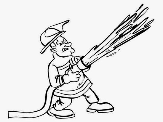 fireman and policeman coloring pages - photo#44