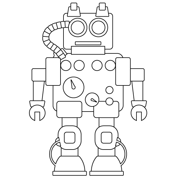 Printable Robot Coloring Pages | Coloring Me
