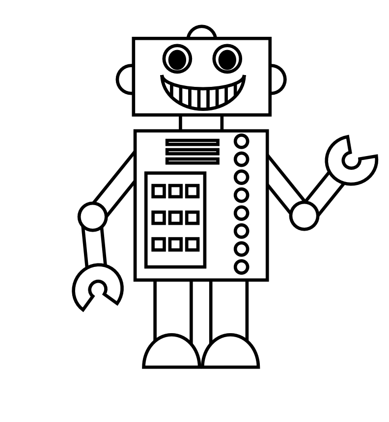 Printable Robot Coloring Pages Coloring Me Robot Coloring Pages
