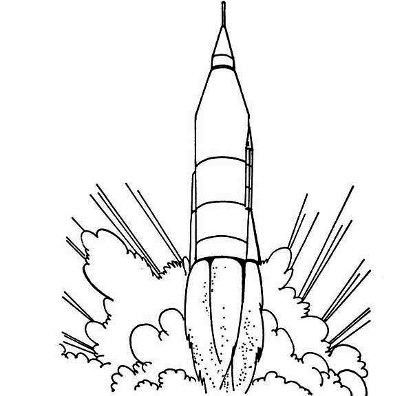 Line Art Rocket : Printable rocket colouring pages spaceship coloring page