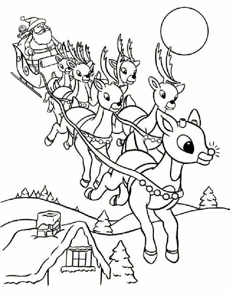 Printable Rudolph Coloring Pages Coloring Me Free Coloring Pages To Print