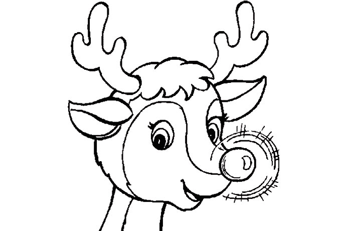 Reindeer head coloring sheet murderthestout for Clarice the reindeer coloring page