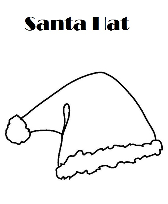 santa hat coloring page pictures