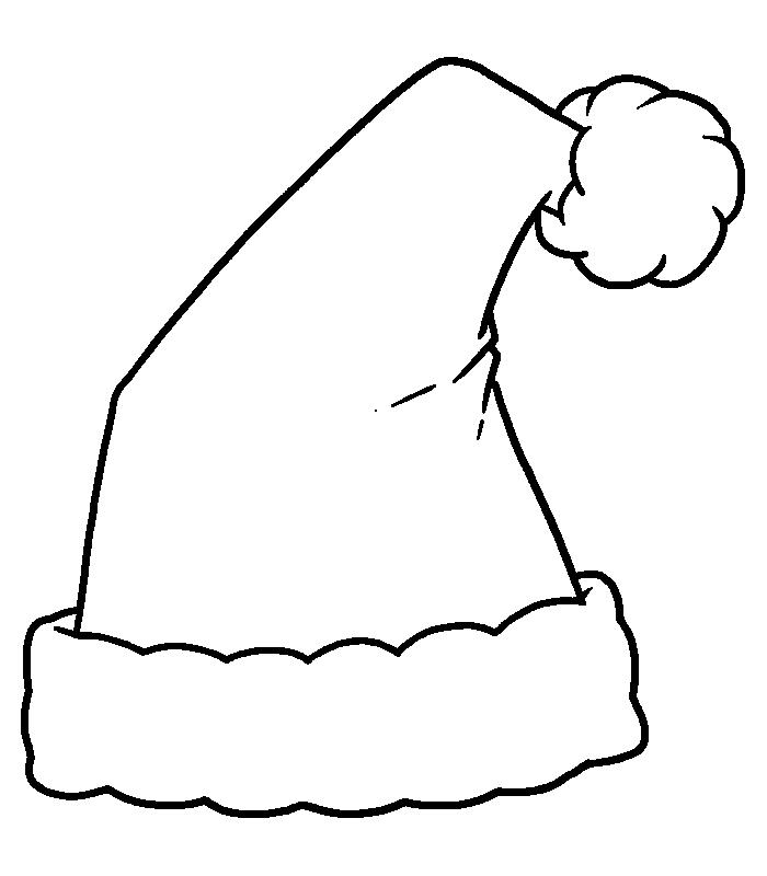 Free coloring pages santa hat page
