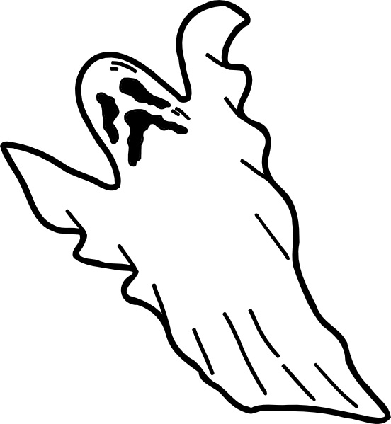 coloring pages on ghosts reading - photo#34