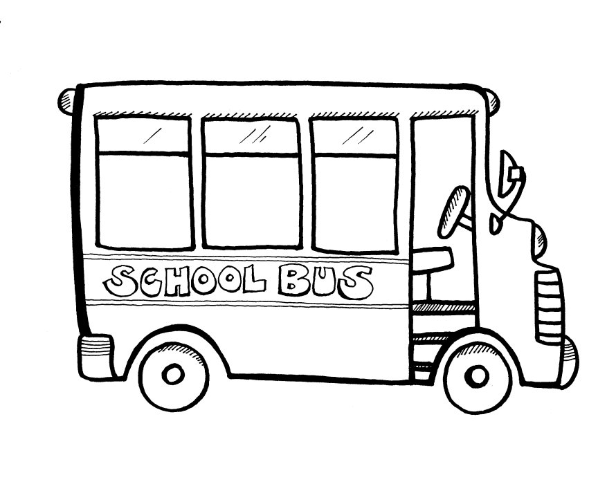 Printable School Bus Coloring Pages | Coloring Me