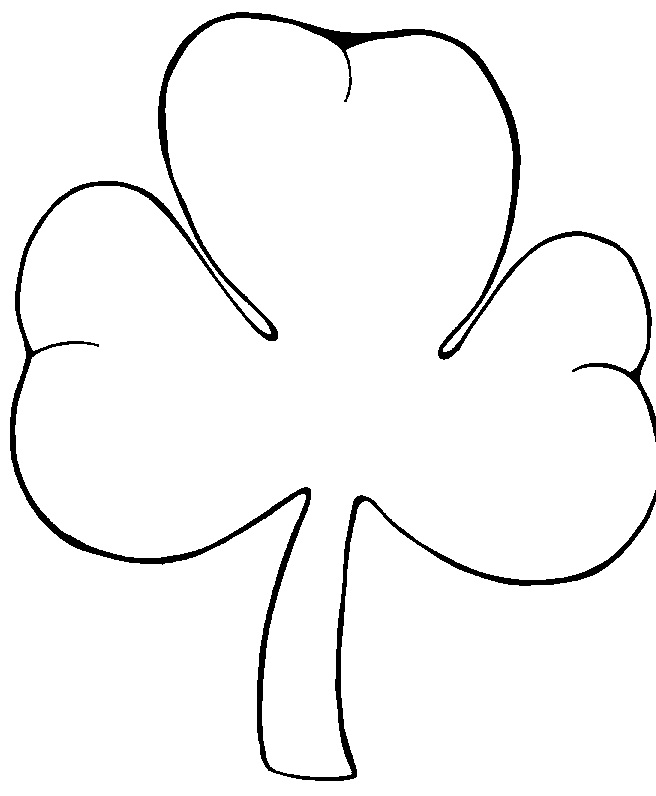 Printable Shamrock Coloring Pages | Coloring Me