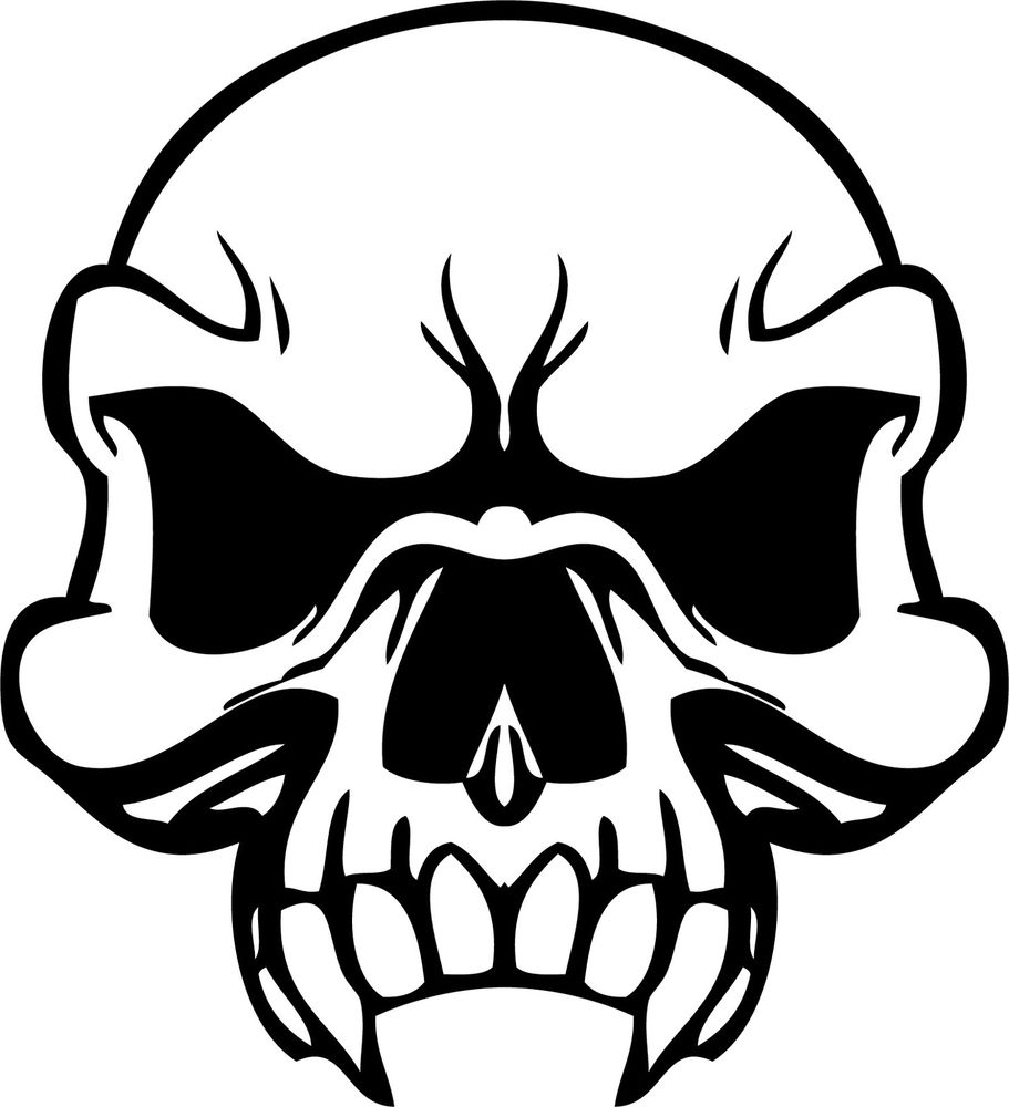 Impeccable image within printable skull