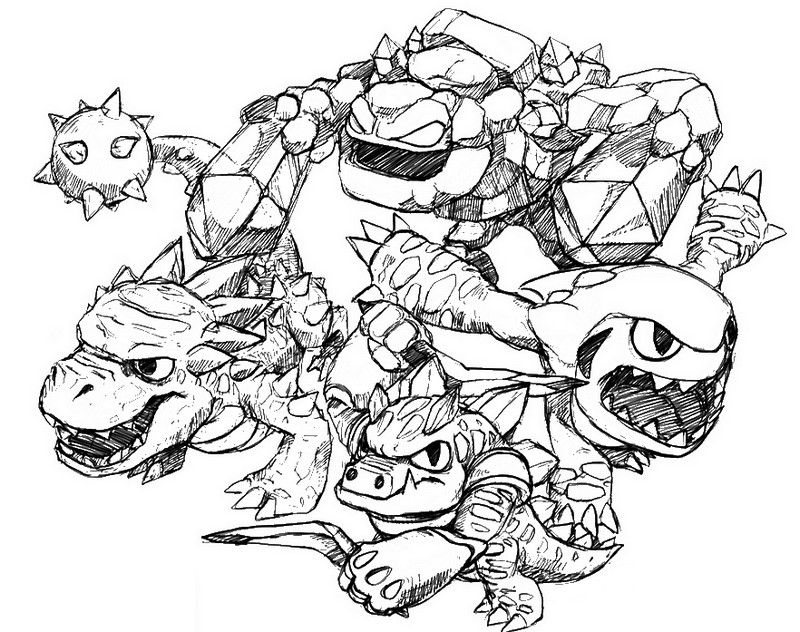 Printable Skylander Giants Coloring Pages Coloringme Com