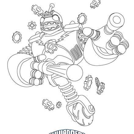 thumpback skylander coloring page – Jawar   440x440