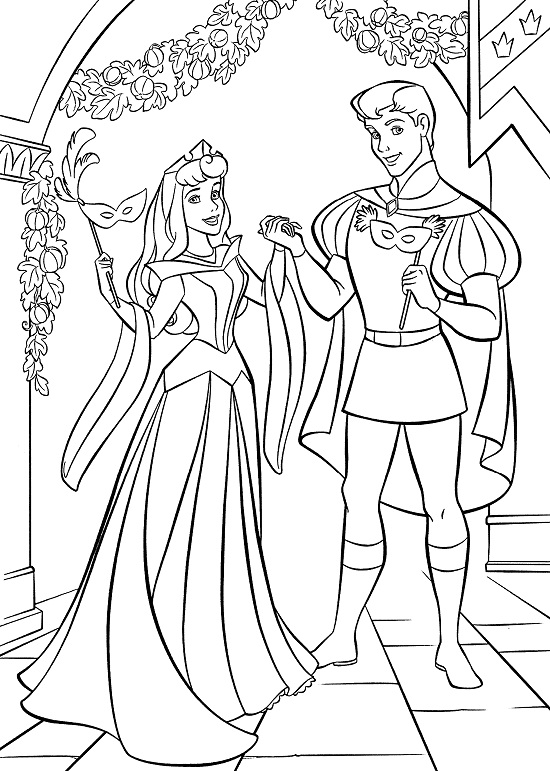 sleeping beauty coloring pages disney - photo#16