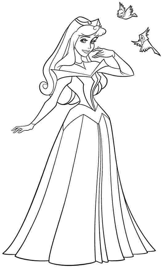 disney aurora coloring pages - photo#34